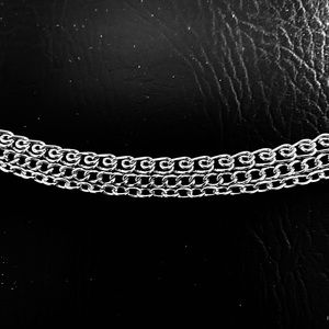 """Jewelry - 3 Chains Ankle Bracelet 9""""-10 1/2"""" adjustable"""